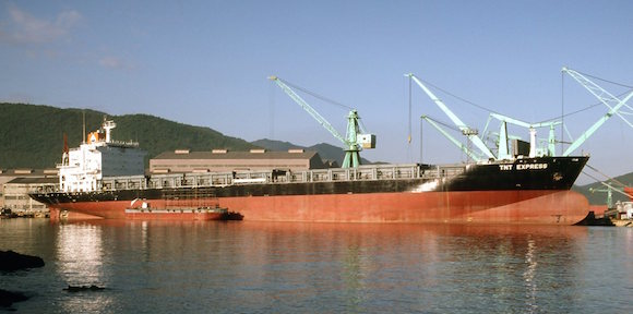 TNT EXPRESS 8313661 41151dwt 1922teu conbulk84 TNT Transport ABC Containerline fitting out at Samsung Geoje Shipyard 1084 SB1
