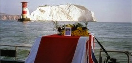 The Needles -popular burial spot  (C) Britannia Shipping