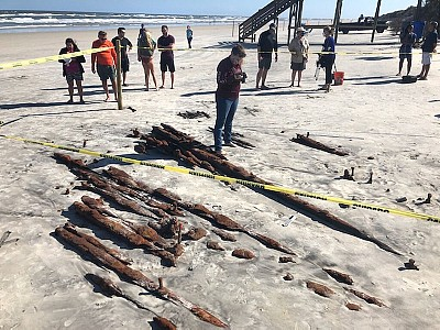 19th-Century Ship Is Revealed by Storm Erosion in Florida