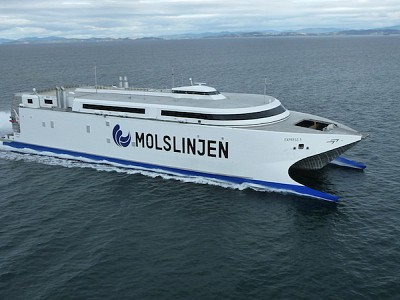Headed for Denmark: Molslinjen's new cat leaves