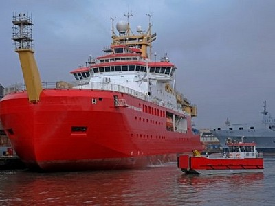 RRS Sir David Attenborough Departs Cammell Laird For Sea Trials