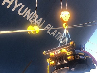 Hyundai Merchant Marine deploys underwater robots for hull cleaning