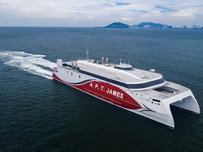 Austal Vietnam Delivers 94 metre catamaran ferry to NIDCO of Trinidad and Tobago