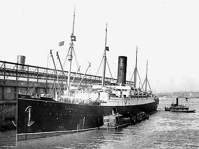 April 18, 1912, the day the RMS Carpathia, with Titanic's survivors aboard, docked at Pier 54 in New York Harbor.