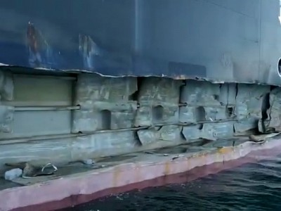 Container ship MSC Tina heavily damaged in allision at Port of Istanbul