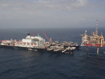 """Pioneering Spirit"" completes maiden heavy lift project"