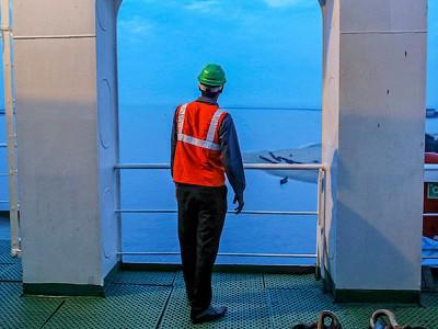 Cargo ship crews are stuck at sea