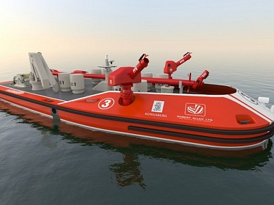 Remotely-operated Fireboats for Ports Announced by Robert Allan Ltd. and Kongsberg Maritime