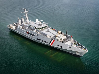 Austal Australia launches first of two cape class patrol boats for Trinidad and Tobago Coast Guard