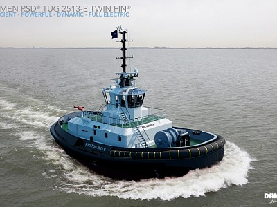 World's First Fully-Electric Tug With 70 Tonnes Bollard Pull Launched For Ports Of Auckland