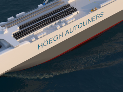 Launching the most environmentally friendly car carrier ever built