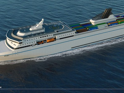 Knud E.Hansen Reveals Innovative 212-metre RoPax Ferry Design
