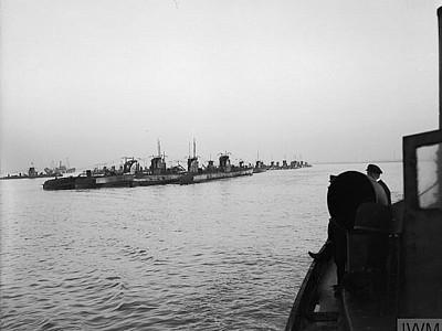 Surrender of German U Boats at end of WW1