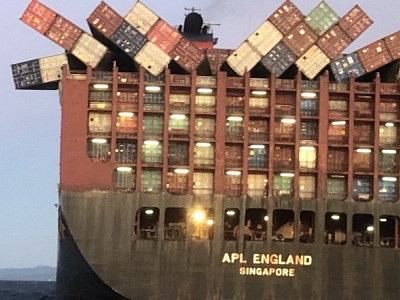 APL England shipping container loss off New South Wales