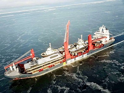 24 Damen stock vessels arrived from China in the Port of Rotterdam via Arctic route