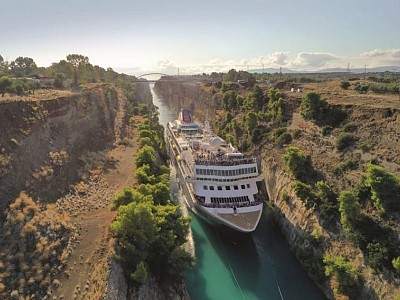 Braemar to repeat record-breaking voyage of Corinth Canal in 2022 with new cruise unveiled by Fred. Olsen Cruise Lines