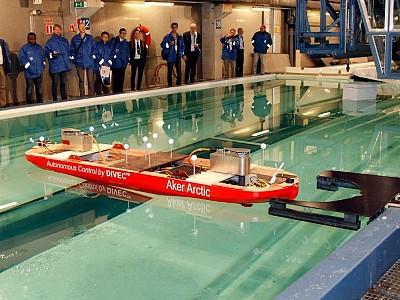 Aker Arctic demonstrates autonomous vessel in model tests