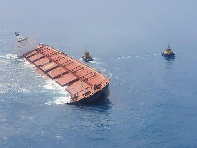 Polaris Shipping VLOC Stellar Banner damaged and heavy listing off Brazil; Crew evacuated