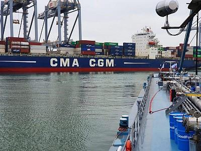 CMA CGM Boxship Refueled with Sustainable Marine Biofuel in Rotterdam Port