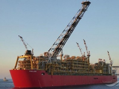 First Condensate Cargo Shipped from Prelude FLNG