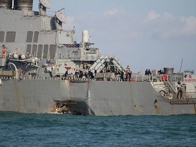 10 Sailors Missing After USS John S. McCain Collides With Tanker