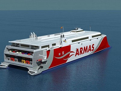 Incat awarded shipbuilding contract by Naviera Armas for a new vehicle-passenger ferry