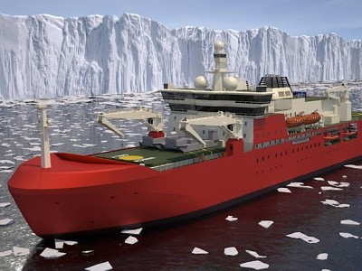 FIRST STEEL CUT FOR AUSTRALIAN ANTARCTIC SUPPLY RESEARCH VESSEL