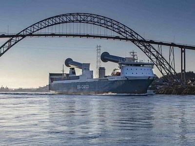 Norsepower successfully installs Rotor Sails on RoRo