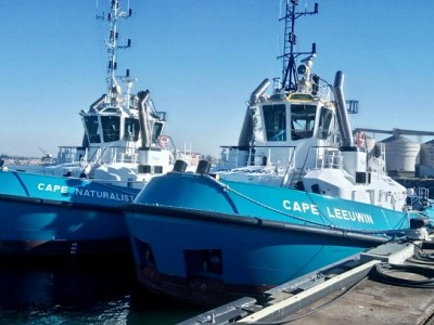 Two Damen Azimuth Tractor Drive (ATD) Tugs 2412 delivered to Western Australia