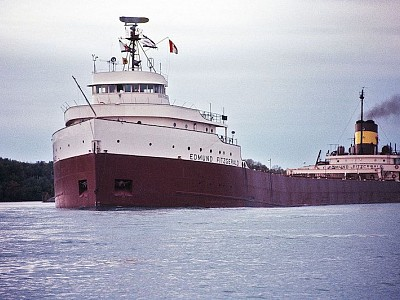 Sinking of S.S. Edmund Fitzgerald on Lake Superior