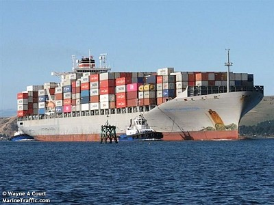 Maersk Launceston collides with Greek Navy ship