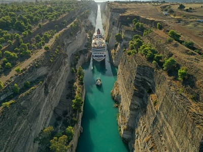 Fred. Olsen Breaks Corinth Canal Record