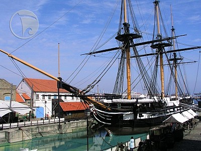 HMS Trincomalee built 1816 by Bombay Dockyard, Bombay, India