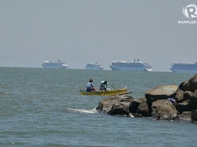 More cruise ships park at Manila Bay