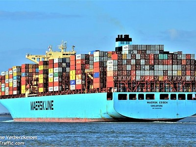 Maersk Boxship Loses 750 Containers Overboard in North Pacific
