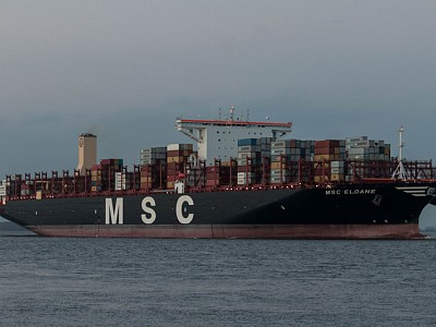 Ultra Large Container Ship lost some 40 containers
