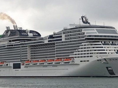 A cruise guest aboard the MSC Grandiosa tested positive for COVID-19 yesterday
