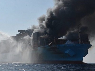 Likely cause of Maersk Honam fire decomposition of dangerous cargo