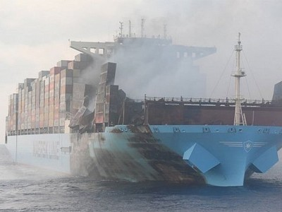 Maersk Honam rechristened and ready to sail