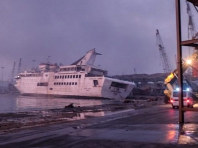 Orient Queen Cruise Ship Damaged in Blast In Beirut