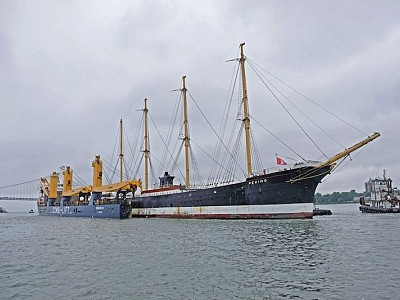 Four masted barque Peking returns home to Hamburg