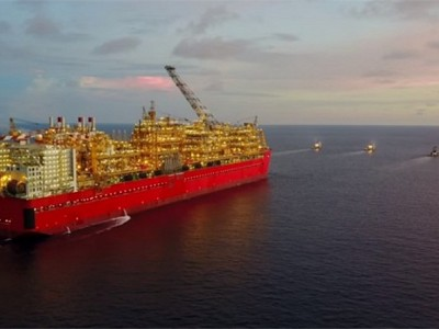 Prelude FLNG arrives in Australia