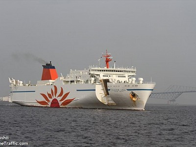 Japan: Large car ferry completes demo test of auto berthing, un-berthing at actual pier