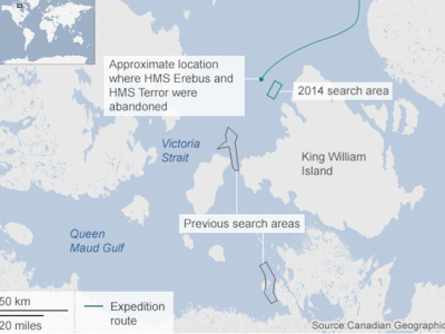 Sir John Franklin: Fabled Arctic ship found