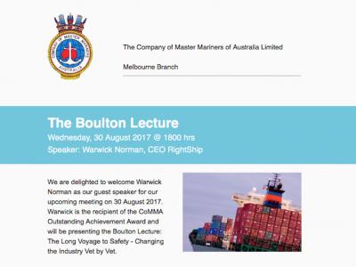 Boulton Lecture 2017