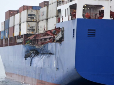 Images Released of Damaged Ships in 27 March Collision in Denmark