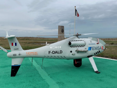 Sniffer drone deployed in the strait of Pas-de-Calais to monitor ship emissions