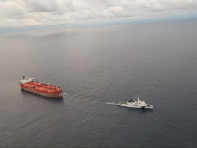 A Panama-flagged tanker has been towed to safety after it went adrift off the ecologically sensitive Nicobar Islands, India, on 20 November.