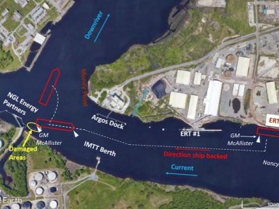 Docking pilot's actions seen as probable cause in tugboat allision with berth