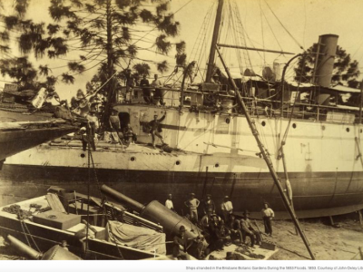 1893 - Ships Ashore at City Botanic Gardens